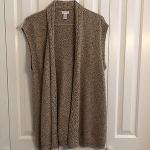 Chicos size 3 gold shimmering sweater vest EUC